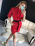 Летнее платье - сафари приталенного кроя с рукавом до локтя vN4861, фото 2