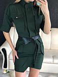 Летнее платье - сафари приталенного кроя с рукавом до локтя vN4861, фото 3