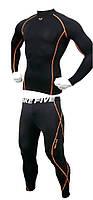 Спортивный рашгард + спортивные штаны Take Five с оранжевой строчкой