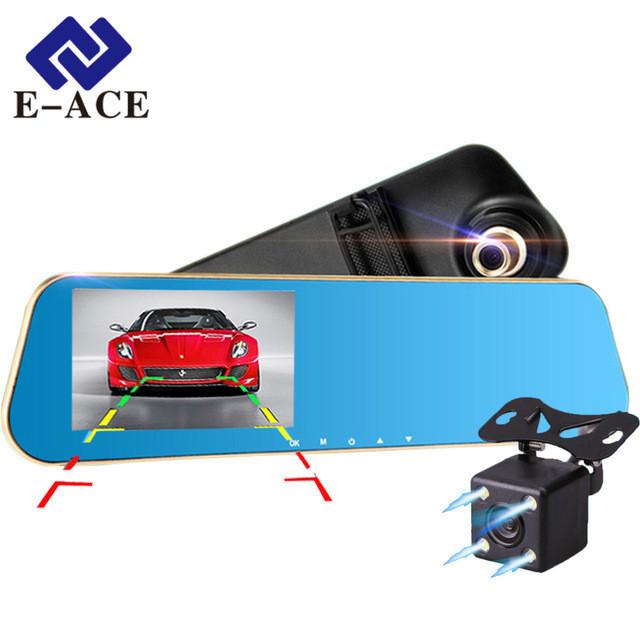 Регистратор- зеркало с камерой заднего вида  E22  Full HD CAR DVR MIRROR ( SCREEN)