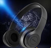 Наушники HD Bluetooth  с MP3 плеером, FM радио Marshal Black
