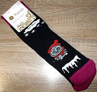 Носки женские СОВЫ хлопковые махровые 36-40 черные