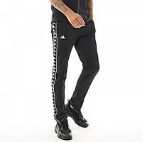 Спортивные штаны Kappa Authentic 222 Banda Astoria Poly Track Black/Black Black - Оригинал