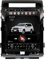 Штатная   магнитола Toyota Land Cruiser 200 Тесла 12, 1 дюйм Андроид 7.0 Android