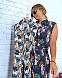 Летнее платье - рубашка в принт без рукава vN5003, фото 3