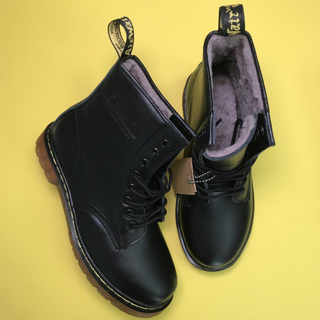 Зимние ботинки Dr. Martens 1460 (Premium-class) с натуральным мехом, фото 2