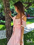 Летнее платье на запах с рюшами и ассиметрией на юбке vN5043, фото 4