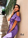 Летнее платье на запах с рюшами и ассиметрией на юбке vN5043, фото 6