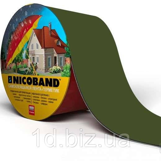 Кровельная лента Никобенд (Nicoband) зеленая; 10*0,1 м