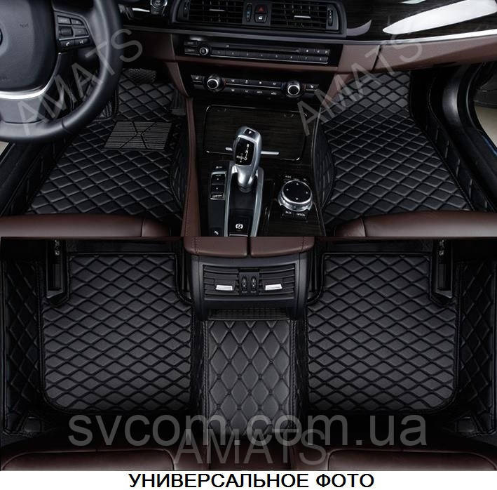 Коврики VolkswagenTouareg из Экокожи 3D (2011-2017) Чёрные