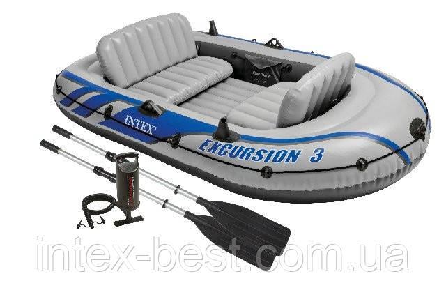 Надувная лодка Excursion 3 Set Intex 68319 (262х157x42 см. )