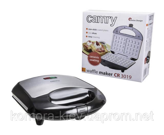 Вафельница для бельгийских вафель Camry CR 3019 ceramic