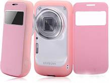 Чехол книжка для смартфона SM-C1010 Samsung Galaxy S4 zoom розовый BASEUS