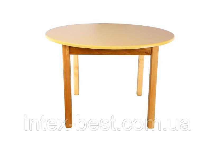 Деревянный (ваниль) столик с круглой столешницей Bambi (Финекс Плюс)