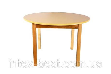 Деревянный (ваниль) столик с круглой столешницей Bambi (Финекс Плюс), фото 2