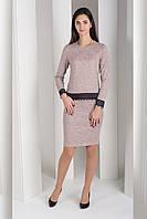 Костюм  женский  теплый юбка кофта ангора софт кружево  42 44 46 48 50 Р
