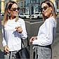 """Женская нарядная блуза 0473 """"Софт Рукава Кружево Мулине"""" в расцветках, фото 2"""