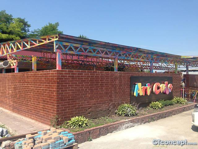 Навес над летней площадкой ресторана 16