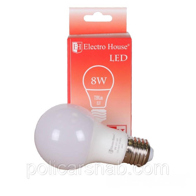 ElectroHouse LED лампа E27 8W