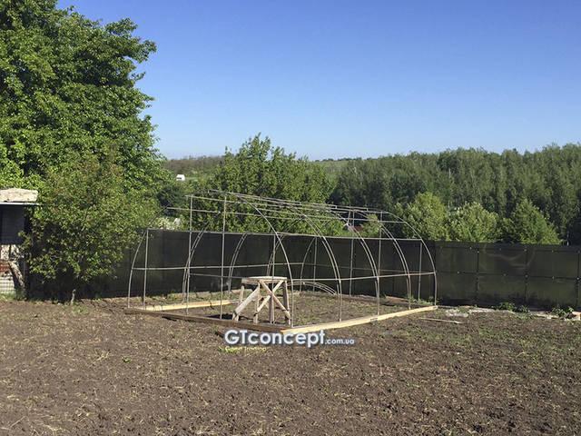Усиленная теплица 5х8 метров 15
