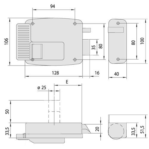 Cisa 1.11610.50.2 замок накладний електромеханічний