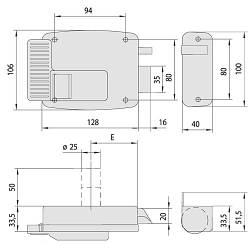 Cisa 1.11610.50.2 замок накладной электромеханический