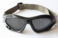 Захисні окуляри-сітка чорні / Защитные очки для страйкбола, сетка черные