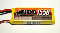АКБ Rhino LiPo 7.4v 1550mAh 25C, фото 1