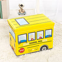 Пуф-ящик для игрушек Школьный автобус Berni