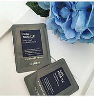 THE SAEM Gem Miracle Black Pearl O2 Bubble Mask, 10g