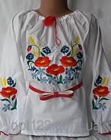 Нарядная детская  сорочка вышиванка для девочки Колоски