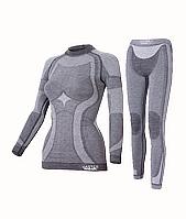 Комплект женского термобелья Haster Merino Wool XS Темно-серый, КОД: 124871