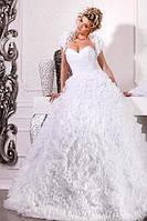 """Прокат 900 грн. Свадебное платье """"Без слов"""" с отделкой цветами"""