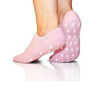 🔝 Спа гелевые носочки для педикюра c маслом жожоба Spa Gel Socks увлажняющие носки для ног, Розовые | 🎁%🚚