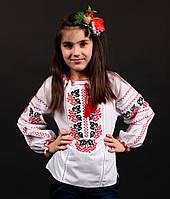 Красивая детская сорочка вышиванка для девочки Инна