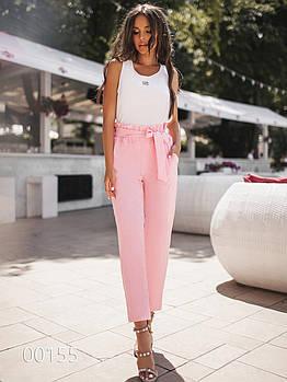Молодежные брюки для женщин, 00155 (Розовый), Размер 44 (M)