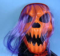 Маска Тыква-Джек с волосами Хэллоуин