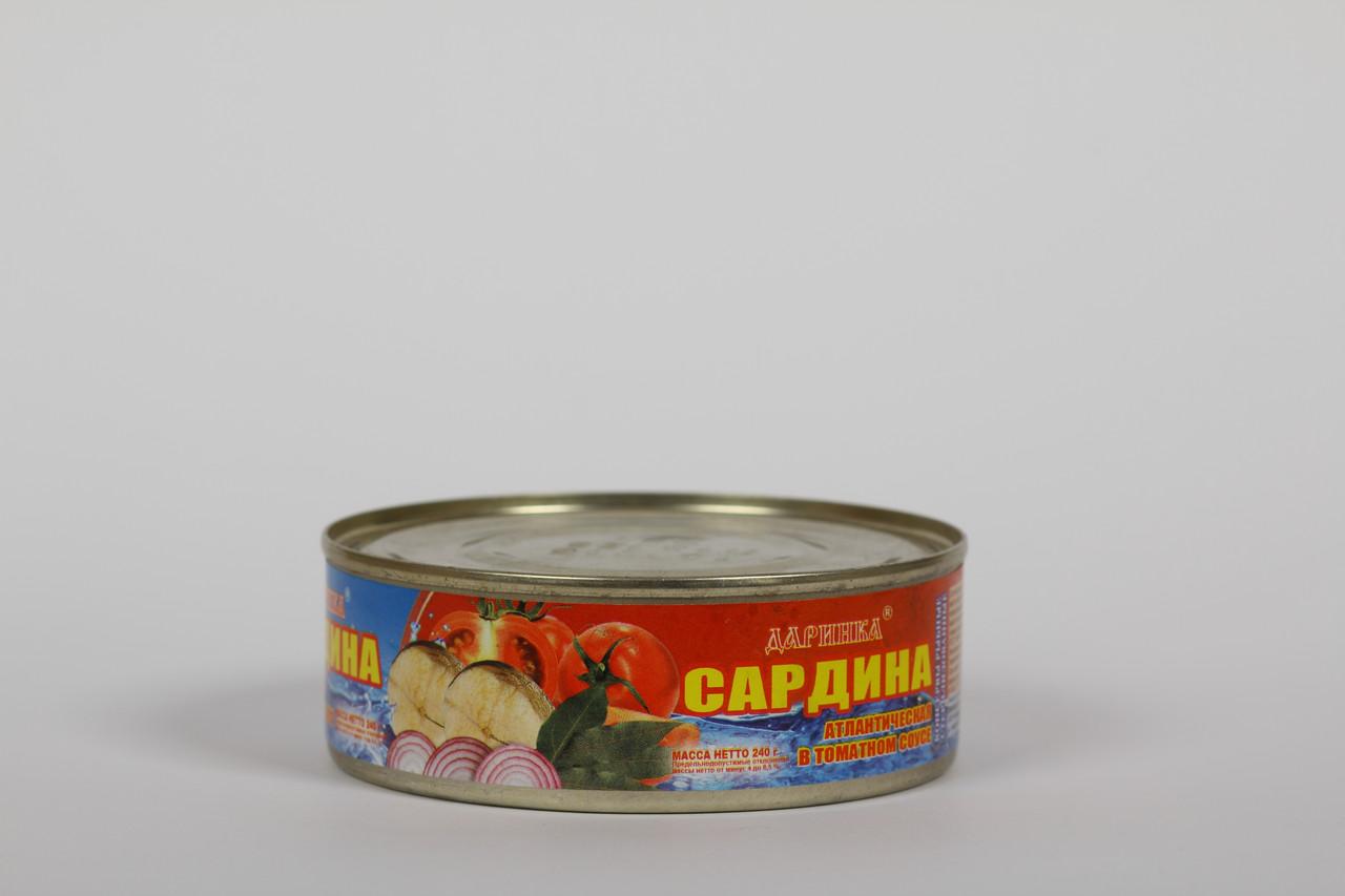 Сардина атлантическая в томатном соусе