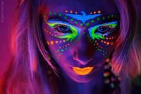 Краска для лица светящаяся в темноте 25 мл микс  (только упаковкой по 24 шт), фото 1