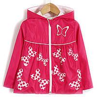 Ветровка для девочки Яркая бабочка, розовый Baby Rose