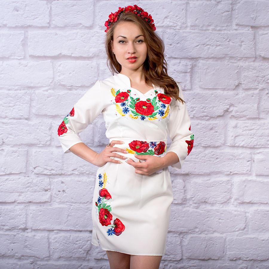"""Платье с вышивкой """"Цветы Украины"""""""
