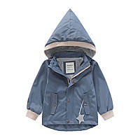 Куртка для мальчика Комфорт, серо-синий Meanbear