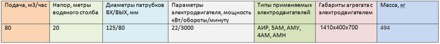 насос АХ125-80-250