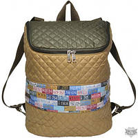 Бежевый рюкзак с принтом EPISODE E15S119.02