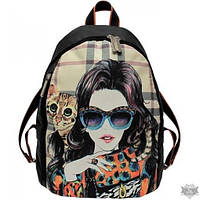 Черный рюкзак с принтом EPISODE GLAMOUR E16S025.22