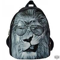 Черный женский рюкзак EPISODE FRIENDS ЛЕВ В ОЧКАХ E16S025.26