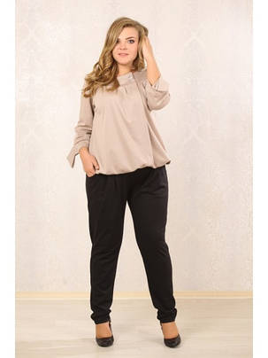 Женские черные брюки большие размеры, фото 2