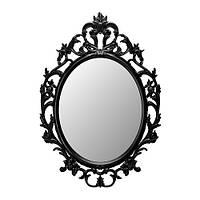 """IKEA """"УНГ ДРИЛЬ"""" Зеркало, овал, черный"""