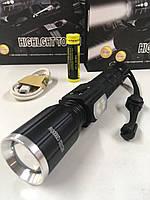 Фонарик диод Т6 подсветка LED +RGB WD292