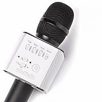Беспроводной караоке микрофон Q9 с чехлом - Черный
